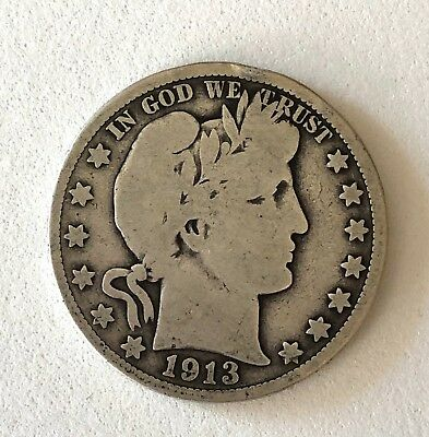 Rare, Key Date 1913- U.s. Barber Silver Half Dollar- Please See Other Rare Coins