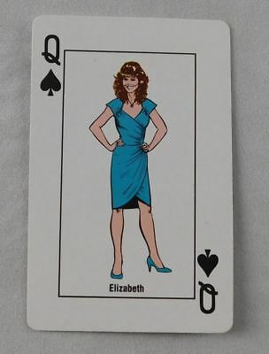 Elizabeth Spades Playing Card WWF Wrestling Collector Wrestler WWE 1988