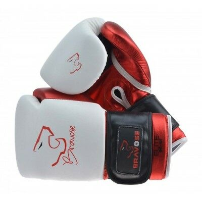 Bravose Elite™ Premium Quality Real Leather Boxing Gloves for Bag and Sparring