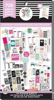 Mambi Happy Planner Create 365 Value Sticker Book 725 Pcs! CLASSIC Color Story