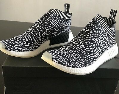 16dde4d250448 New adidas NMD CS2 PK Men s Sneakers Size 9.5 Black   White With Box BY3012