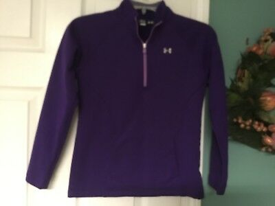 Kids Girls Under Armour LOOSE Purple Pullover Size YMD (CON21)