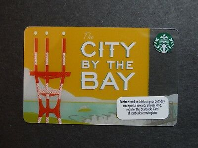 """2013 """"City by the Bay"""" Starbucks Card - New & Never Swiped - Pin Intact"""