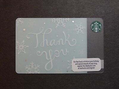"""2013 """"Thank You"""" Christmas Starbucks Card - New & Never Swiped - Pin Intact"""