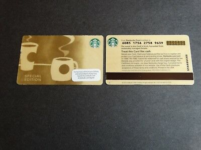 """2013 """"Woody"""" Special Edition Starbucks Card - New & Never Swiped - Pin Intact"""