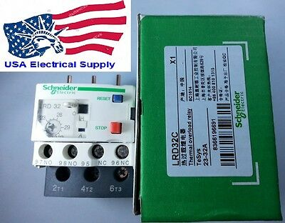 New Schneider Thermal Overload Relay LRD32    23-32Amp.