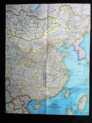National Geographic Map Of China.Vintage China Map National Geographic November 1964 Mint 1 00
