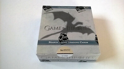 2014 Rittenhouse Game of Thrones Season 3 Trading Cards Hobby Box FACTORY SEALED