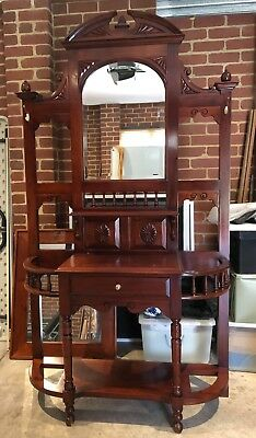 Hall Stand - Solid Timber Antique Reproduction Style