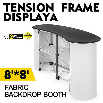 Pop Up Trade Show Display Counter Table Podium Booth W/ Carry   Bag Sturdy