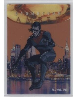 2017 Fleer Ultra Spider-man Preserved Amber PA15 Morbius FULL COLOR 5/5