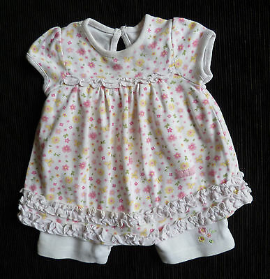 Baby clothes GIRL newborn 0-1m cotton floral dress/shorts 2nd item post-free!