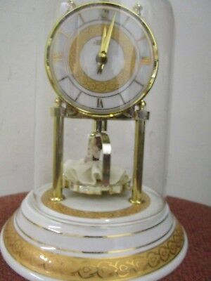 """hermle desk clock with dancing ballerina rare FREE SHIPPING 9.5"""" tall 7"""" wide !!"""