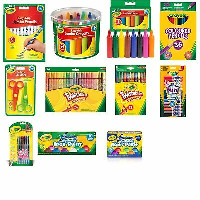 Crayola Colouring Chalk Crayons Markers Supertips Children Adults Free Delivery