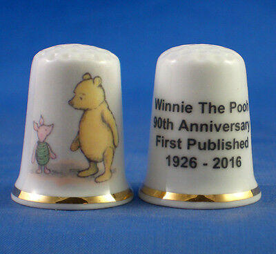 Commemorative Thimble - Winnie The Pooh 90Th Anniversary 2016 -  Free Gift Box