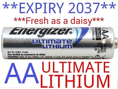 •EXPIRY 2037• 4 x ENERGIZER ULTIMATE AA LITHIUM BATTERIES LR6 L91 NEW 1.5v NEW