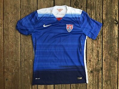 Nike Dri Fit Team USA World Cup Soccer Jersey Size Medium M Sewn EUC Nice 8603b1ad4