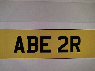 Cherished Number Plate ABE 2R