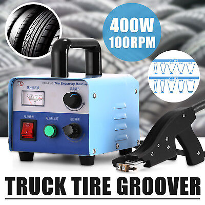 400W Tire Groover Machine W/blades Siper Kit Pro Grooving Cutter 123