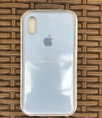 wholesale dealer 98266 ef220 SILICONE CASE FOR Apple IPhone X Or iPhone XS Fits Both-Genuine Sky Blue  Cover