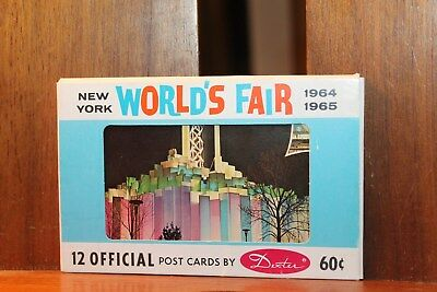 Package 12 Official  Dexter Vintage 1964-1965 World's Fair New York Postcards