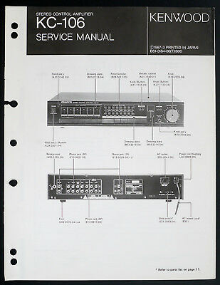KENWOOD KC-206 / RC-206 Control Amplifier Service Manual ... on