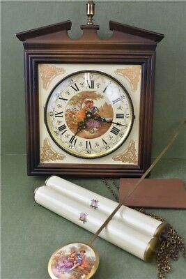 VINTAGE SCHMECKENBECHER Wall CLOCK With Chimes And Weights  Spares And Repairs