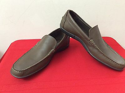 9a387eccfad75 LACOSTE MENS Leather Loafers in Dark Brown 8. US. (b9) -  49.95 ...
