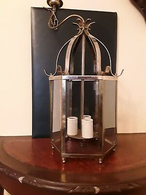 Vintage Antique Style Solid Brass Hall Lantern 3 Candle Lamps