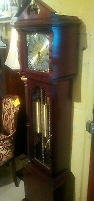 Granddaughter clock, Westminster chimes and silent switch, just serviced,