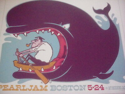 Pearl Jam Boston Massachussetts 2006 Tour Poster 21x18m from Book to Frame?