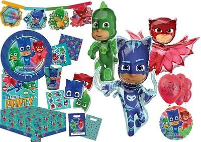 PJ MASKS Birthday Party Tableware Balloons Tablecover Supplies Decorations