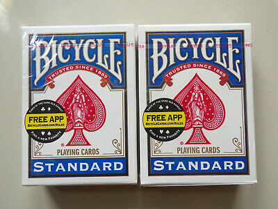 2 x Blue Bicycle Playing Cards Deck Casino Poker Fun Cards Casino Family Games