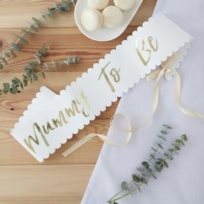 GOLD FOILED MUMMY TO BE SASH - OH BABY! - Baby Shower, Gender Reveal,Accessories