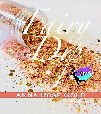Chunky Glitter Hex Blend, Nail Art, Arts and Crafts, Rose Gold Glitter