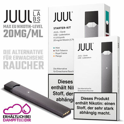 JUUL E-Zigarette Starter Pack | Basic oder Kit Version + 4 pods - Original USA