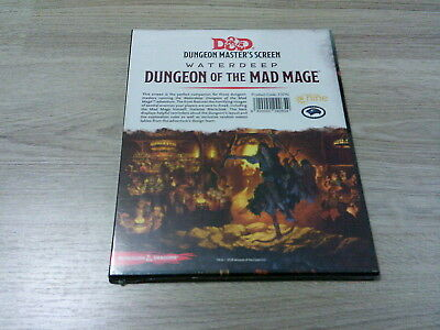 D&D 5th Edition Waterdeep Dungeon of the Mad Mage DM Screen HC Gale Force 9 2018
