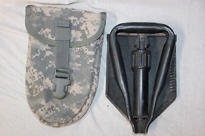US MILITARY Issue ENTRENCHING  E Tool SHOVEL with Cover AMES  07