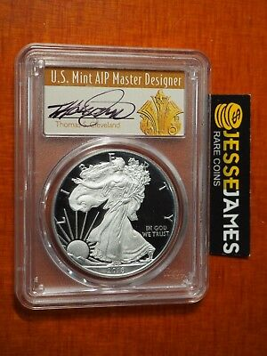 2018 W Proof Silver Eagle Pcgs Pr70 Dcam Cleveland First Day Issue Fdi Art Deco