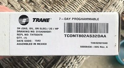 Trane TCONT802AS32DAA 7 Day Programmable Thermostat