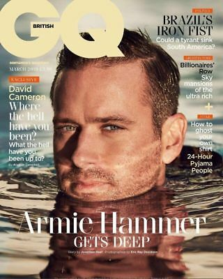 BRITISH GQ MAGAZINE - MARCH 2019 - ARMIE HAMMER COVER FEATURE Timothee Chalamet