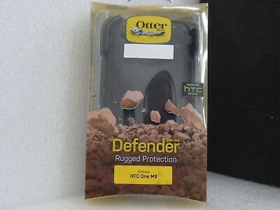 Otterbox Defender Case For HTC One M9 With Holster Clip (BLACK)