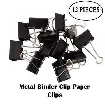 Binder Clips for 32mm Paper Holding Capacity Files Organized and Secure - 12 Pcs