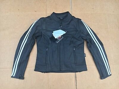 """RK SPORTS Ladies Leather Motorcycle Jacket UK 10 to 12    34"""" - 36"""" Chest   LBC"""