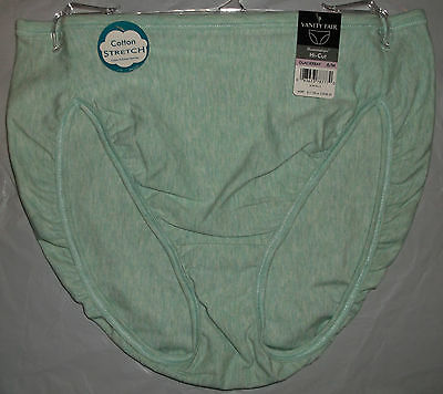 8b4fc4b4dd8 NWT Vanity Fair Illumination 13315 Hi-Cut panty panties Cotton Stretch 6 7  8 9