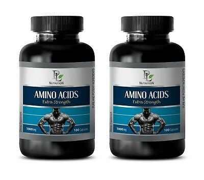 bodybuilding supplements - AMINO ACIDS 1000mg - pre workout energy 2 Bottles