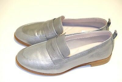 d4c74faec43 Clarks Alania Belle Silver Leather ladies shoes flats brogues 4.5 37.5 D
