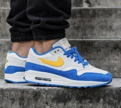 info for a5398 444e5 Nike Air Max 1 One Premium Signal Blue taille 10 Us 44 Neuve Et Authentique