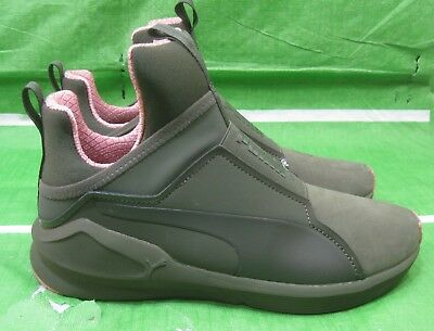 6f37ed2dceb PUMA Fierce Nbk Naturals Women Athletic Sneaker Olive Night 190908-01 Black  7.5