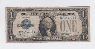 1928 $1 One Dollar Bill Funny Back Blue Seal Silver Certificate Currency Note